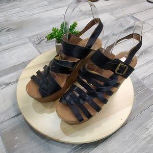 Lucky Brand Wedge Platform Ankle strap Sandals